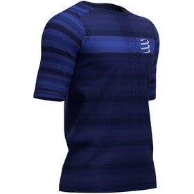 Compressport Racing T-shirt, blue (stripes)